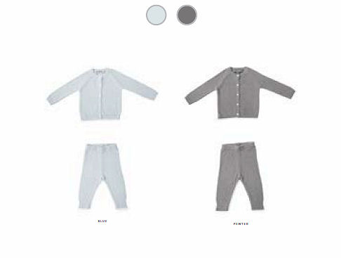Barefoot Dreams CozyChic Lite Infant Classic Cardi & Pant Set