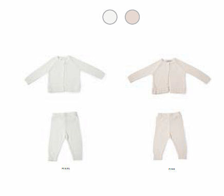 Barefoot Dreams CozyChic Lite Infant Heirloom Cardi & Pant Set