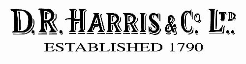 D R Harris - Chemists and Perfumers, established 1790