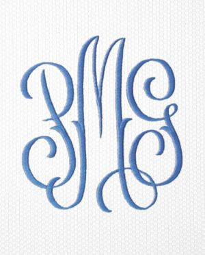 Matouk Swiss Embroidery Monogram for a Shower Curtain - 2022
