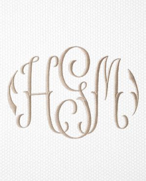 Matouk Applique Monogram -  2023