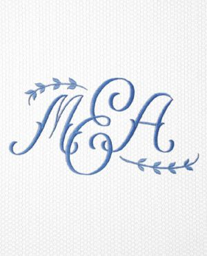 Matouk Applique Monogram for a Shower Curtain - 2029