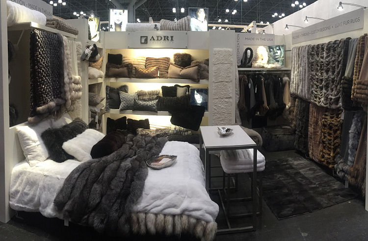 Adri Collection of Fur Throws, Wraps, Pillows