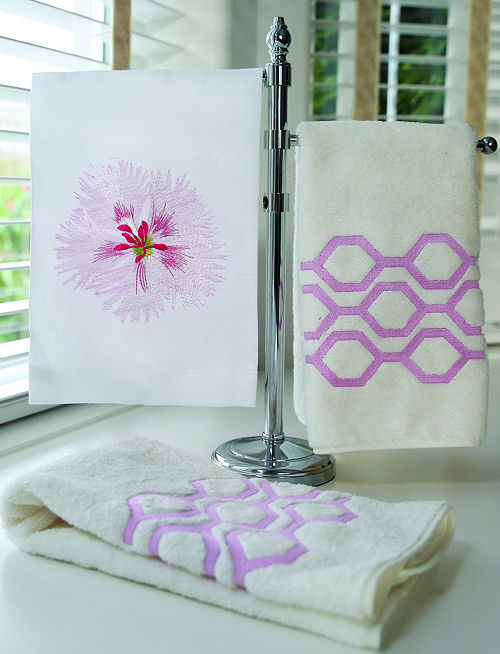 Anali Luxury Embroidered Italian Bed & Bath Linens, Linen Guest Towels, Decorative Pillows and Table Linens