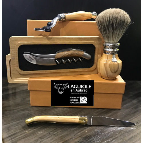 Laguiole En Aubrac Folding Pocket Knives, Wine Corkscrews and Shave Sets